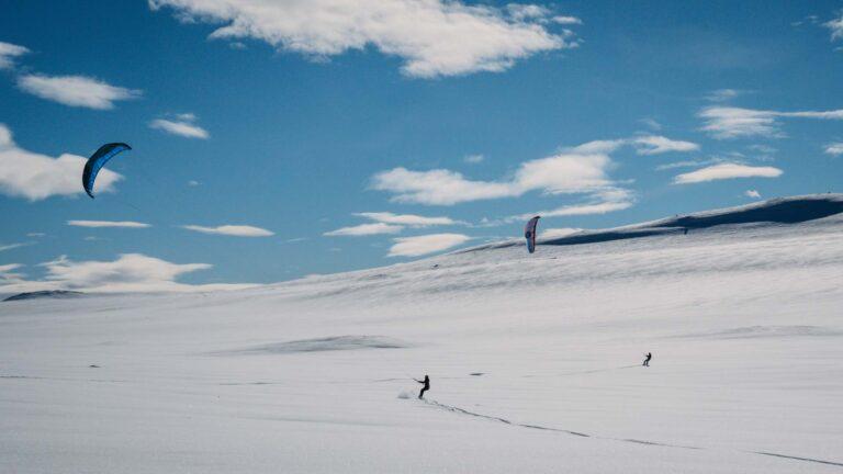 Großes Schneeplateau