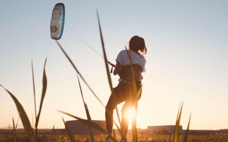 Landkiten mit Flysurfer Kite