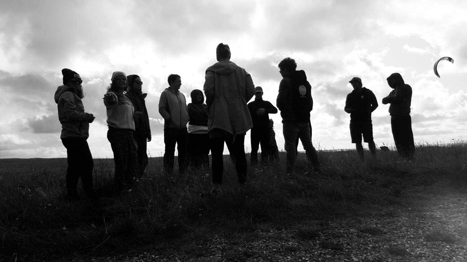 Teamfoto beim Landkiten