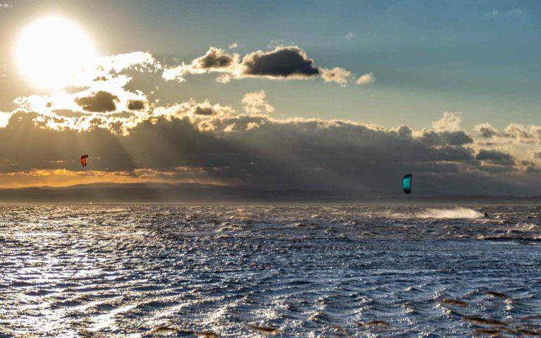 Kitesurfen bei Starkwind