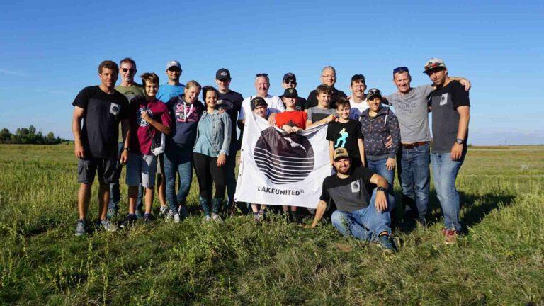 Gruppenbild von Teilnehmern beim Landkiten