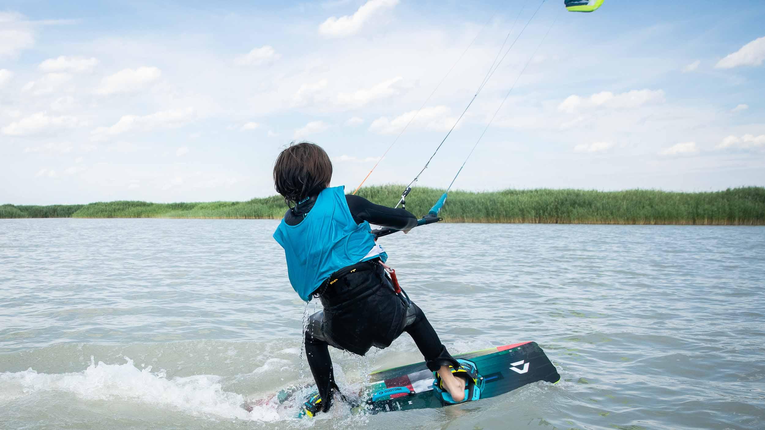 Erste Startversuche im Wasser