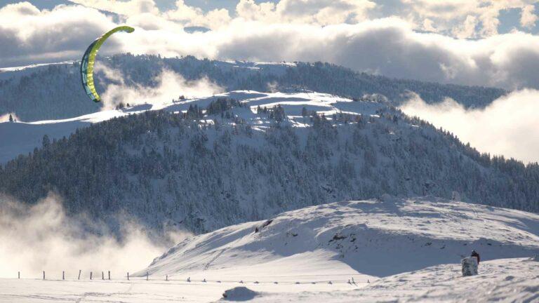 Snowkiten im alpinen Bereich mit Flysurfer Peak