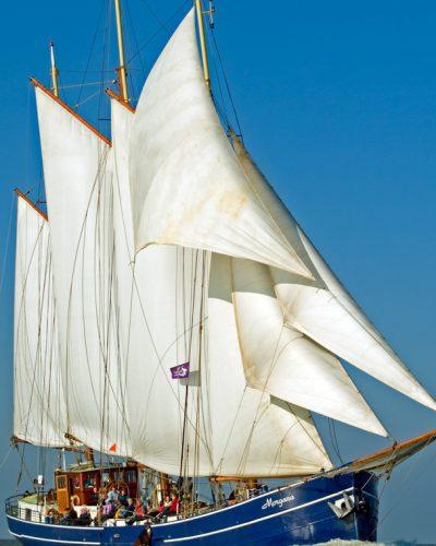 Segelboot Morgana mit offenen Segeln